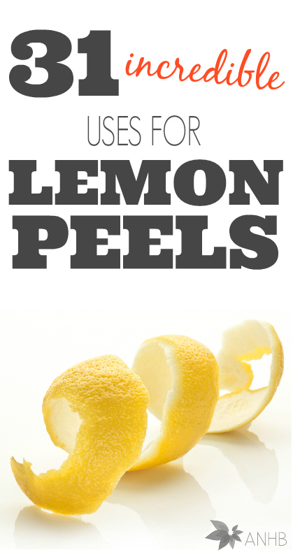 31 incredible uses for lemon peels. Wow! I love #11 and #20!