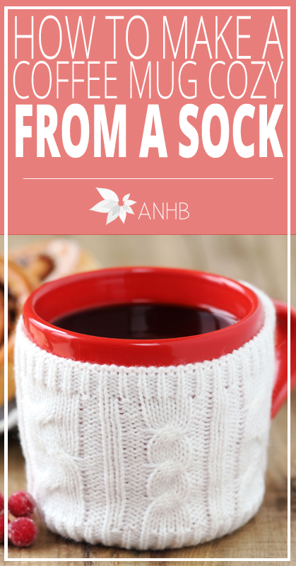 How to Make a Coffee Mug Cozy From a Sock - All Natural Home and Beauty