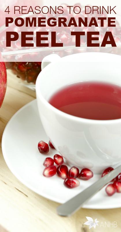 4 Reasons to Drink Pomegranate Peel Tea - All Natural Home and Beauty #pomegranatetea #tea #naturalhealth #healthbenefits