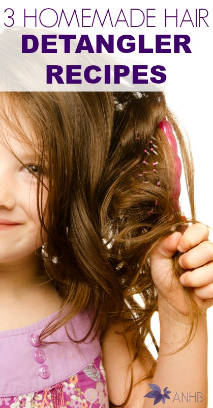 3 Homemade Hair Detangler Recipes #hair #naturalhair #haircare #parenting #detangler #allnatural